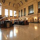 N J Transit Hoboken Rail Terminal  by pmarella
