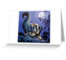 The Moonlighter; squirrel glider Greeting Card