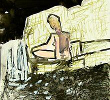 waterfall meditate by donnamalone