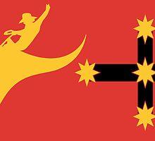 New Australian Flag Design AFL6 by VooKoo