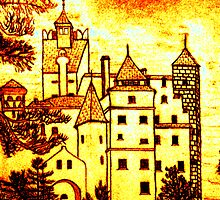 Dracula's Castle, Romania iPhone Case by Dennis Melling