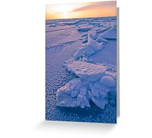Ice Flakes Greeting Card