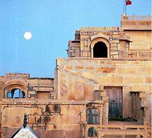 Full Moon Over Jaisalmer by Sarah Jane Bingham