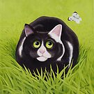 Cat and Cabbage White by vickymount