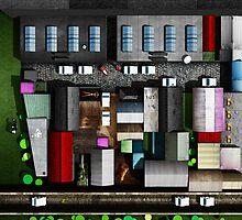 Glasgow Art - The Hidden lane by Michael Murray