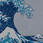 The great wave off shore of Kanagawa. by sundayedition