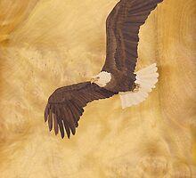 Bald Eagle - Wood Art by Vincent Doan