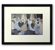 A People Gathering Framed Print