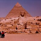 Spinx and Giza pyramids by machka