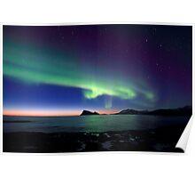 Aurora Borealis over Haja island -II Poster