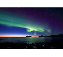 Aurora Borealis over Haja island -II Photographic Print