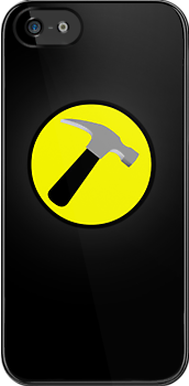 Captain Hammer Logo iPhone Case by Tom Trager