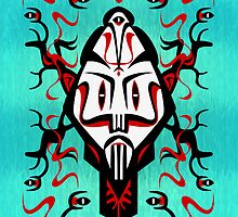 Shaman mask - iPhone case by KenRinkel