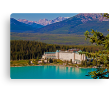 Canada. Lake Louise. Chateau Lake Louise. Canvas Print
