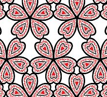 Heart Flower Pattern by Wealie