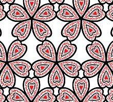 Heart Flower Pattern by Wealie