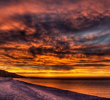 Dramatic Sky over Grand Marais by Megan Noble