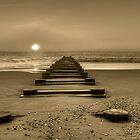 Old Wooden Pier  by Monte Morton