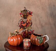 Thanksgiving Scene Table Setting by Sherry Hallemeier