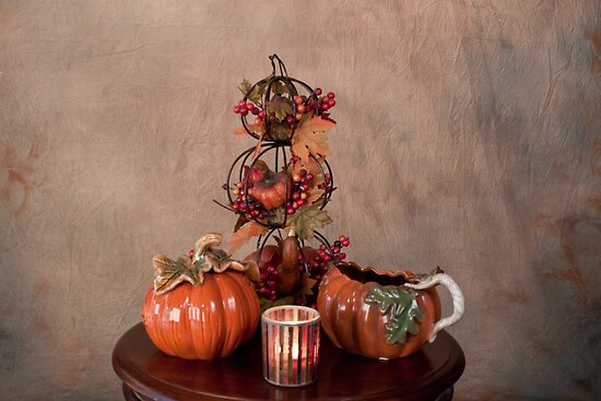 Thanksgiving Scene Table Setting by Sherry Hallemeier