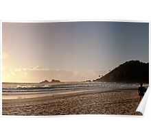 Early Surfer at Broken Head Poster