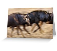 On the move Greeting Card