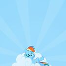 Rainbow Dash Sleeping Iphone Case by carnivean