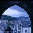 View from Welsh Castle Ruins by BearheartFoto