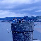 Welsh Castle Tower  Ruins by BearheartFoto