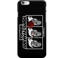 Zombie Survival Guide iPhone Case/Skin