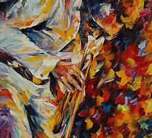 MILES DAVIS, OLD TRUMPET - LEONID AFREMOV by Leonid  Afremov