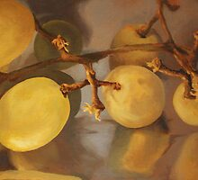 Grapes on Foil by Rachel Hames
