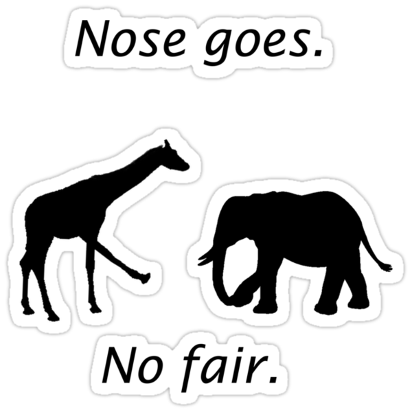 Nose Goes Shirt by jonmelnichenko