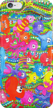 Gang's All Here: iPhone Case (full_180) by Sammy Nuttall