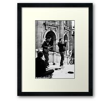 Busking at the Bode Framed Print