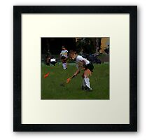 091611 017 p& ink field hockey Framed Print