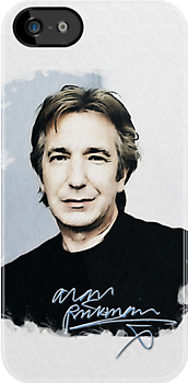 Alan Rickman i-phone case #4 by scatharis