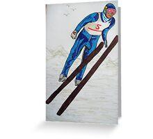 The Ski Jump Greeting Card