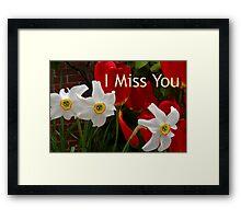 missing you Framed Print
