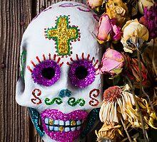 Fancy skull and dead flowers by Garry Gay