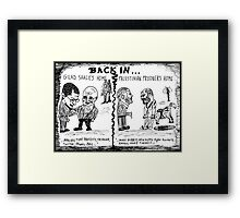 Gilad Shalit and Palestinian former Prisoner Back Home cartoon Framed Print