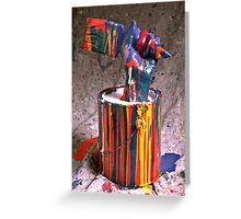 Hand coming out of paint can Greeting Card