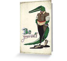 Walking Crocodile Greeting Card