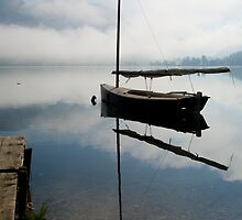 Misty morning on Lake Bohinj by Ian Middleton