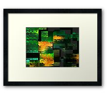 Green Miles Framed Print
