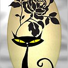 Tribal Black Cat Rose by Delights