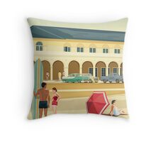 Sydney, Bondi Bathers Pavilion, 1960 Throw Pillow