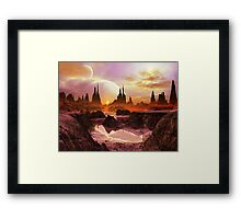 Two Moons at Twilight  Framed Print