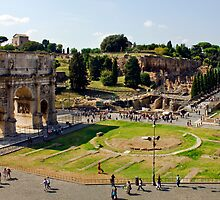 Arch Of Titus and the Roman Forum by Darren Burroughs