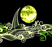 Card - Lunar Sailing - Lime by MelDavies